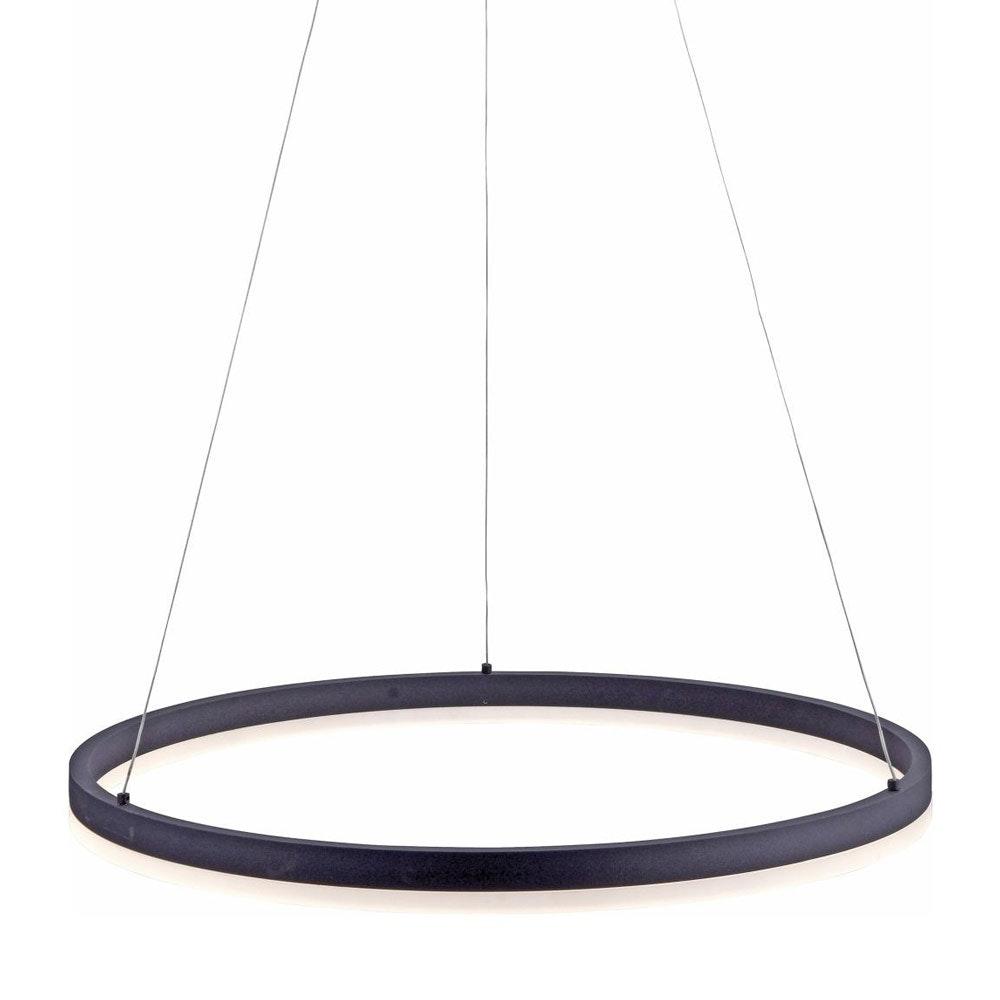Ring M LED-Hängeleuchte dimmbar über Schalter Ø 60cm Anthrazit thumbnail 4