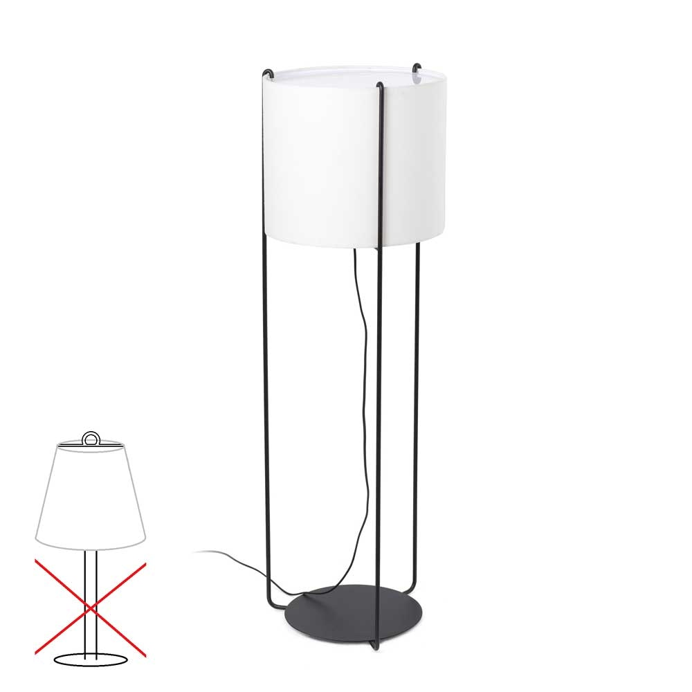 Lampenschirm für Stehleuchte Drum