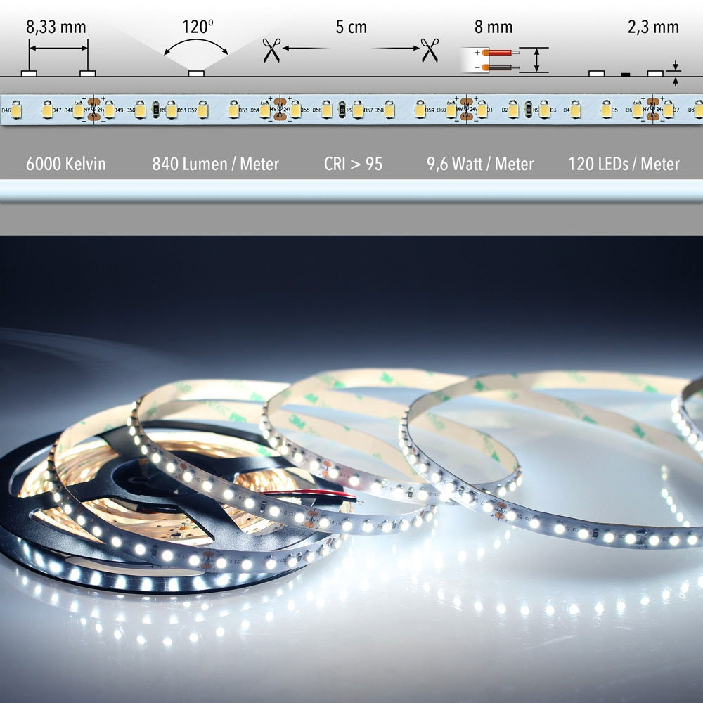 5m LED Lichtband 24V auf Wunsch  2
