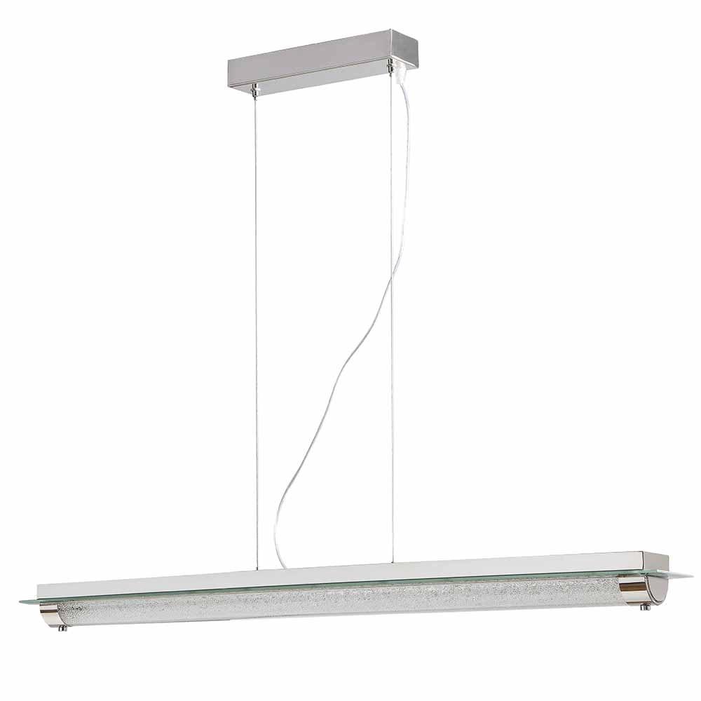 Mantra Tube Glas LED-Pendelleuchte Chrom 3