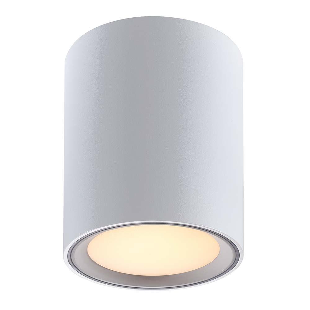 Nordlux LED Deckenleuchte Fallon Weiß & Gebürsteter Stahl