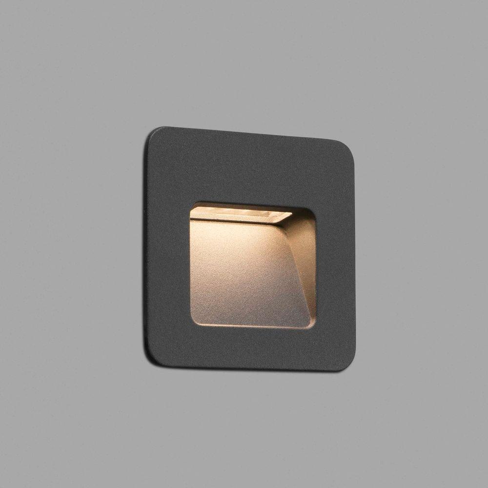LED Außen-Wandeinbauleuchte NASE-1 3000K IP44 Dunkelgrau 1