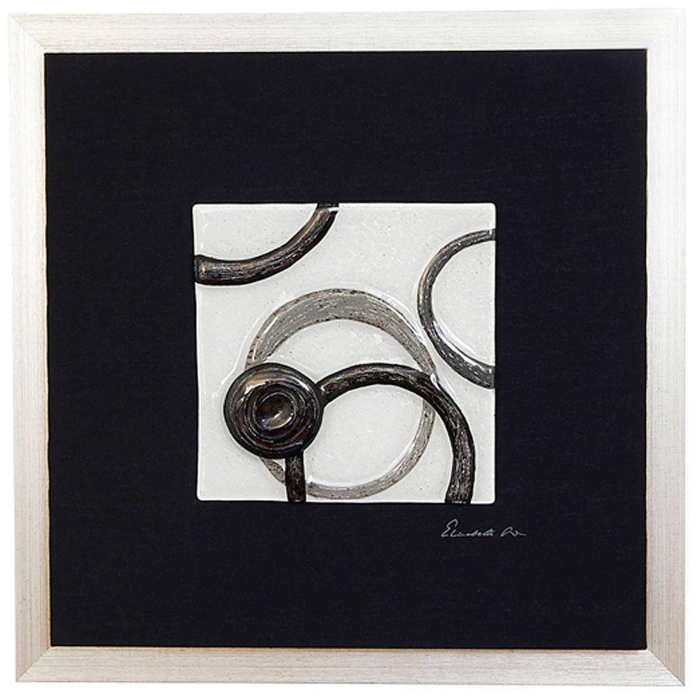 Wandbild Radiografa Holz-Leinwand-Glas Schwarz-Silber-Grau 3