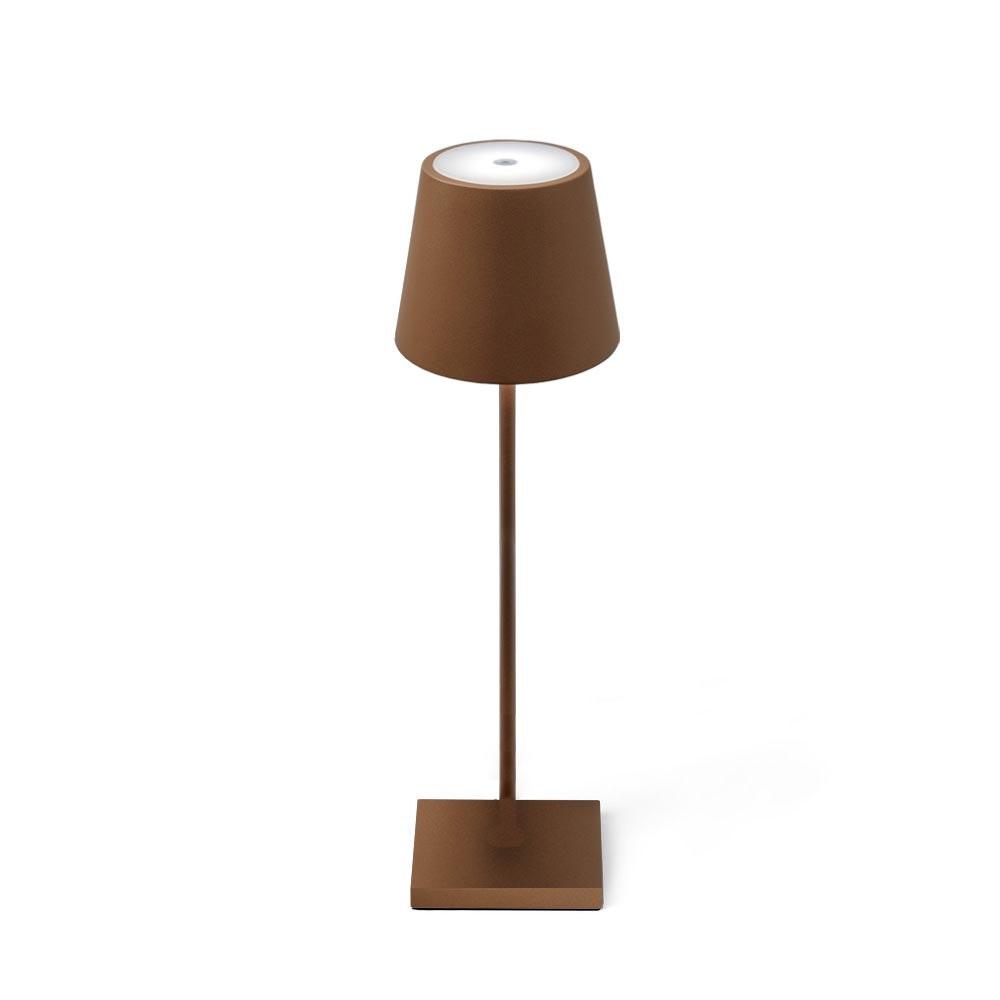 LED Tisch-Akkuleuchte Qutarg für Außen IP54 Dimmbar Braun 2