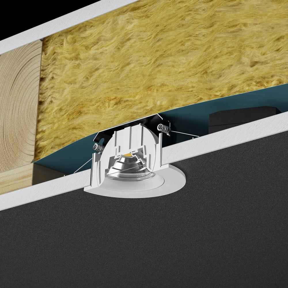 Brumberg LED Decken-Einbauleuchte Indiwo83 Nickel-Matt 3