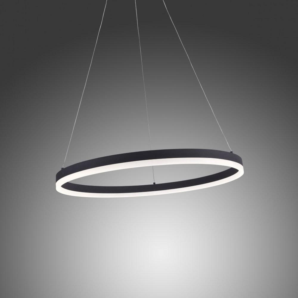 Ring M LED-Hängeleuchte dimmbar über Schalter Ø 60cm Anthrazit 1