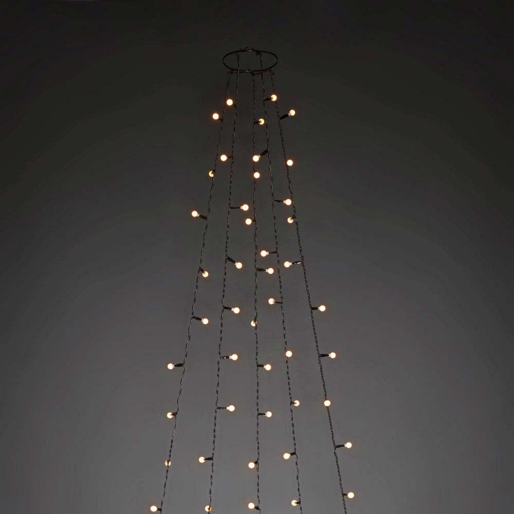LED Baummantel mit Ring Ø 11 mit Globes 5 Stränge mit 30 Dioden 150 bernsteinfarbene Dioden 2