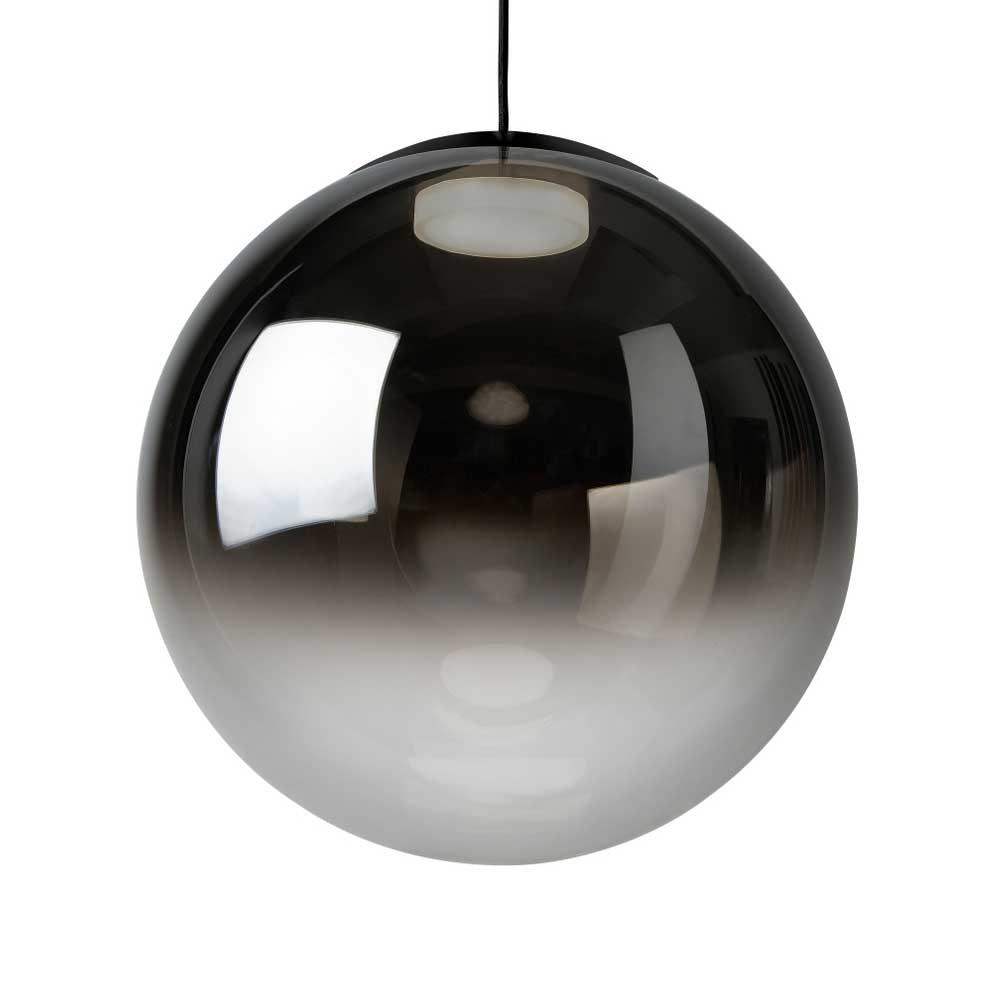 LED Pendellampe Glaskugel Reflex Ø 40cm Schwarz, Chrom