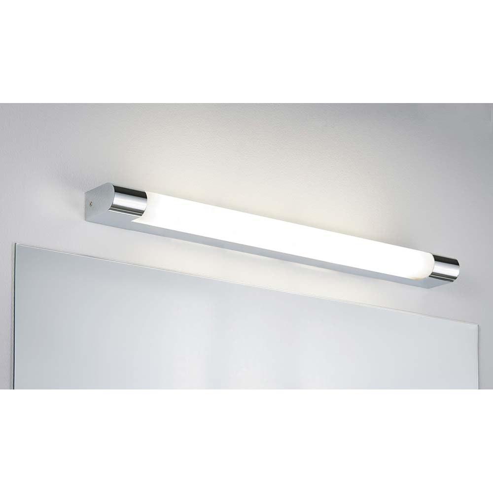 Wandleuchte Mizar IP44 LED 10,5W 630mm Chrom Weiß Acryl 1