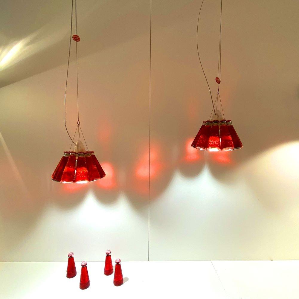 Ingo Maurer Campari Light Pendelleuchte Rot 2