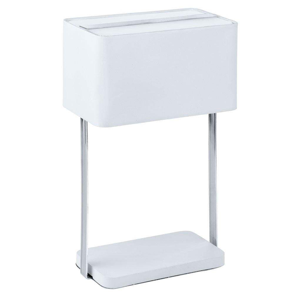 Jamela Tischleuchte Weiß, Chrom