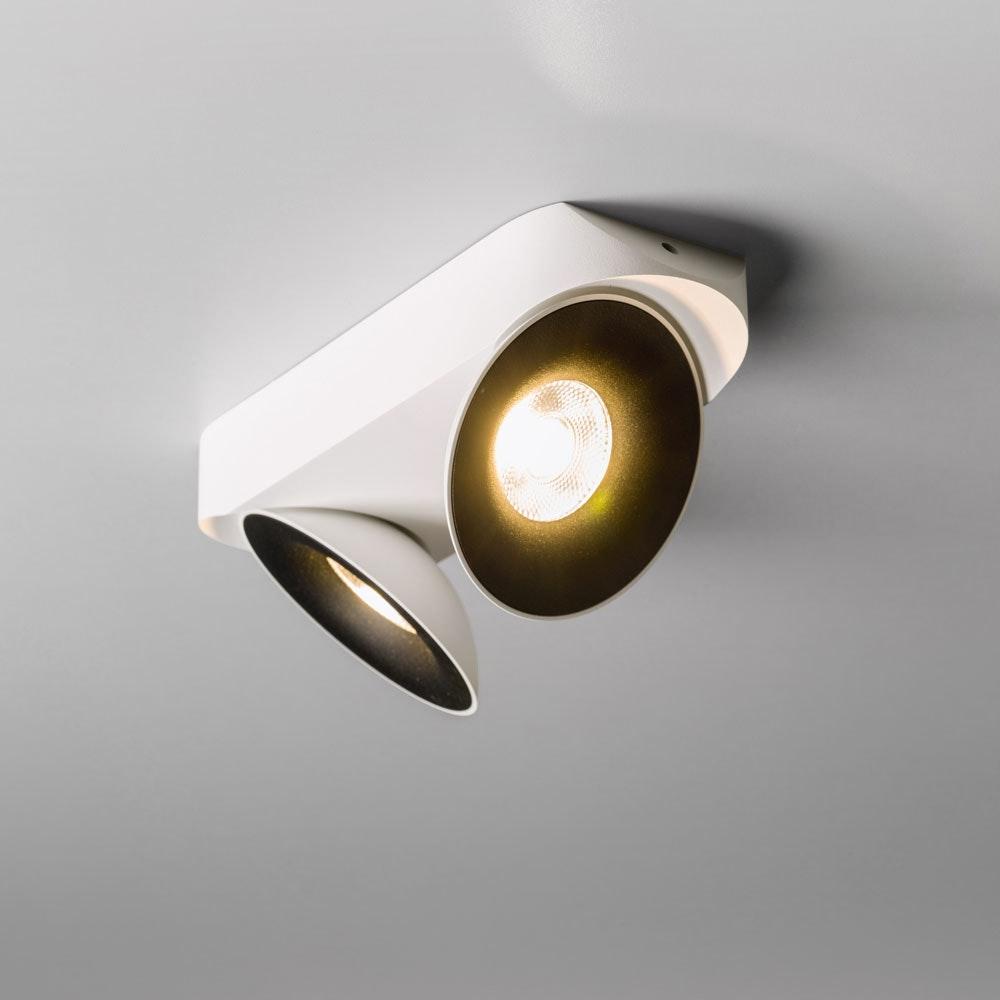 Santa 2er LED Aufbauspot schwenkbar & dimmbar 2 x 810lm Weiß, Schwarz 4