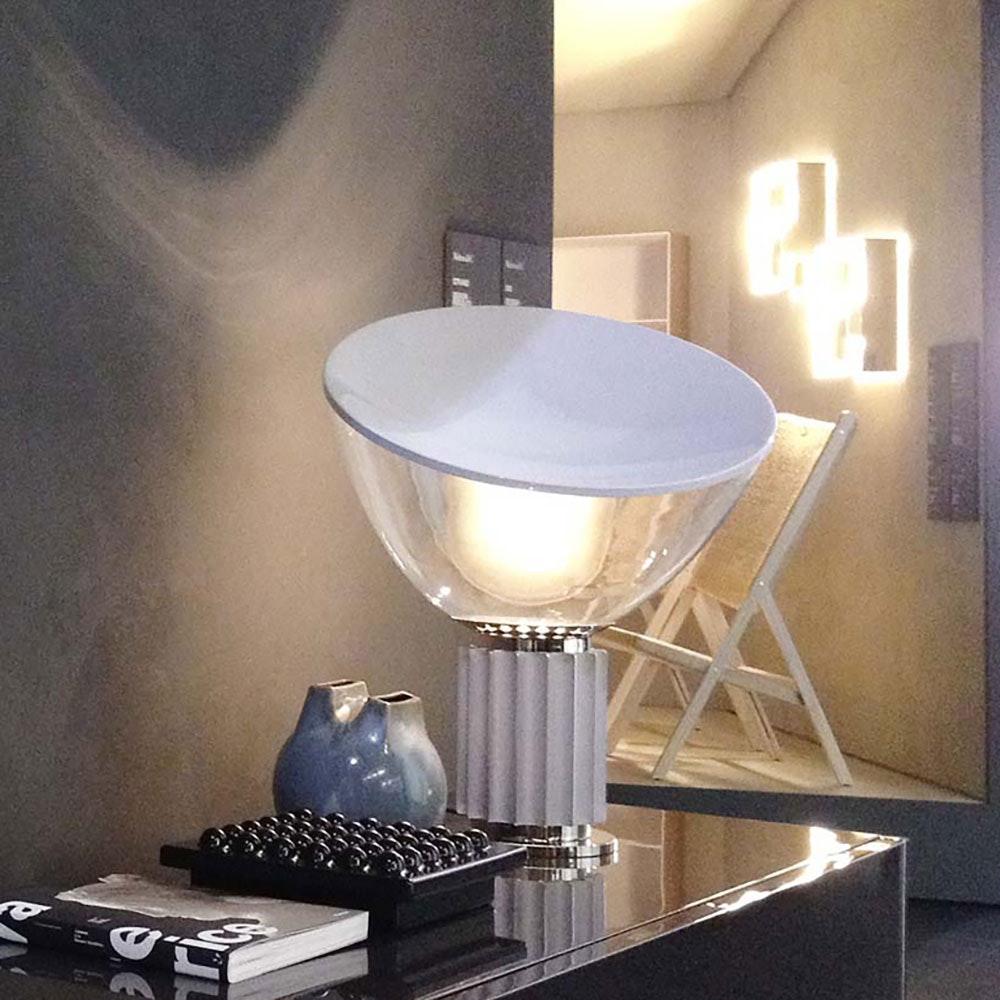 FLOS Taccia Small LED Tischleuchte mit Reflektor 37cm 5