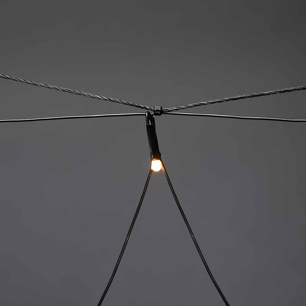 Micro LED Lichternetz IP44 Schwarz 3