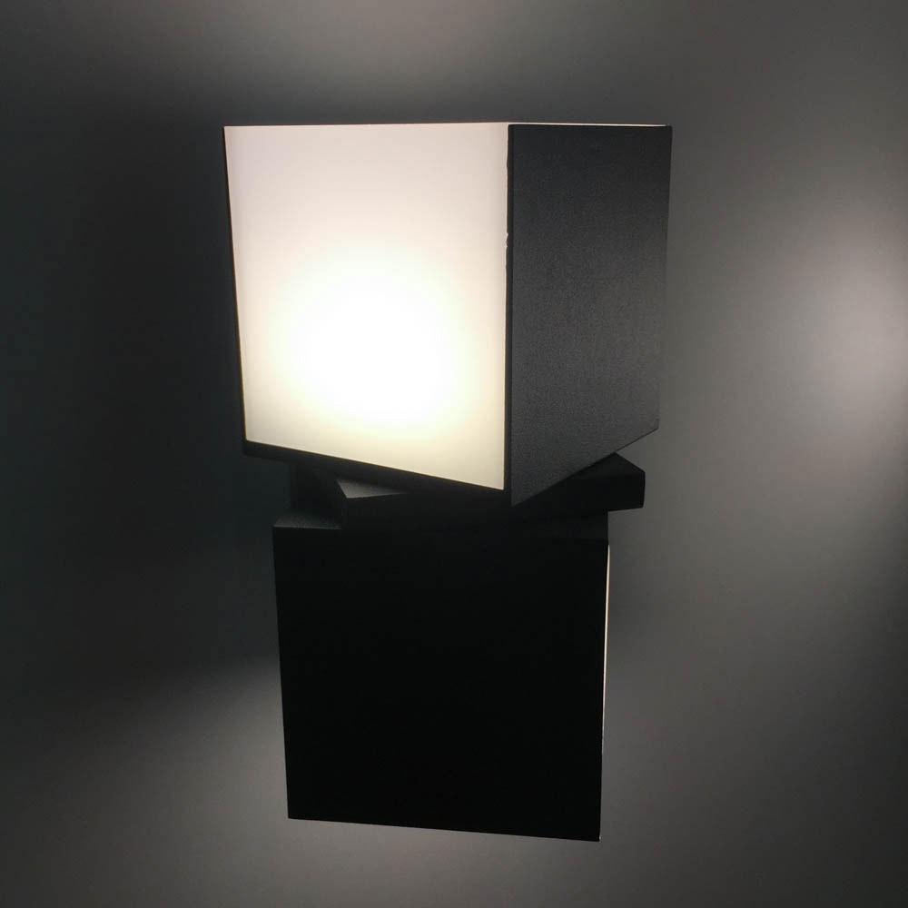 Drehbare LED-Außenwandleuchte Cuba IP54 Anthrazit 6