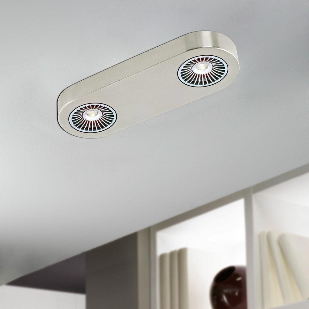 Orifice LED-Deckenspot 2-flammig Nickel-Matt 1