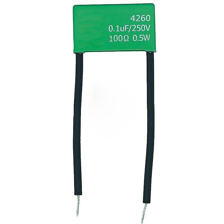 RC-Löschglied 100ohm / 0,1myf gegen Spannungsspitzen & Induktionsspannung