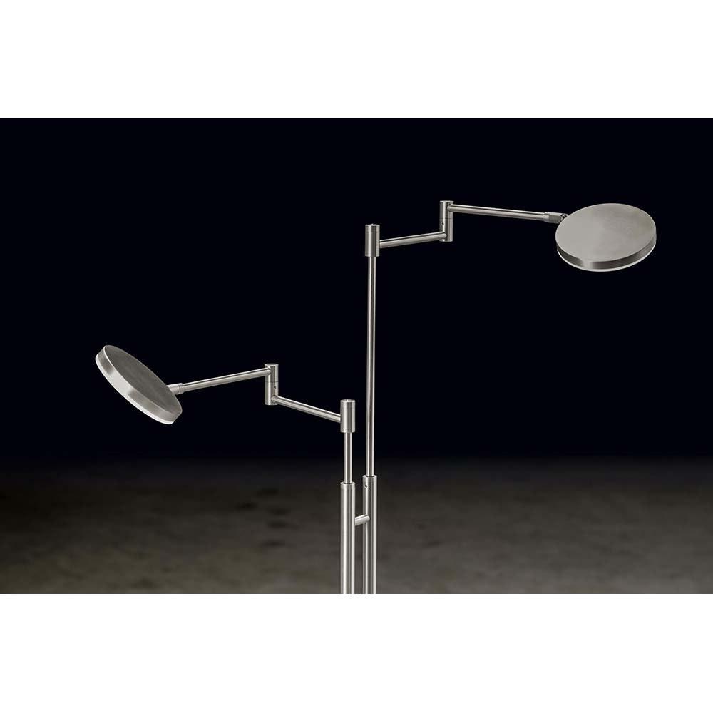 Holtkötter LED-Leseleuchte PLANO TWIN Alu-Matt Tastdimmerwarmweiss 3