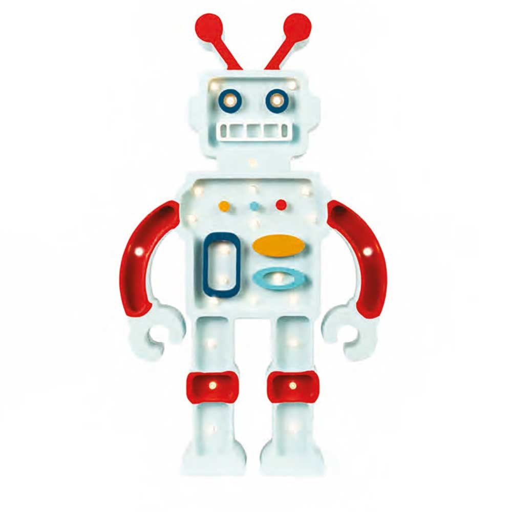 Little Lights Kinder Wand- & Tischleuchte Roboter  4