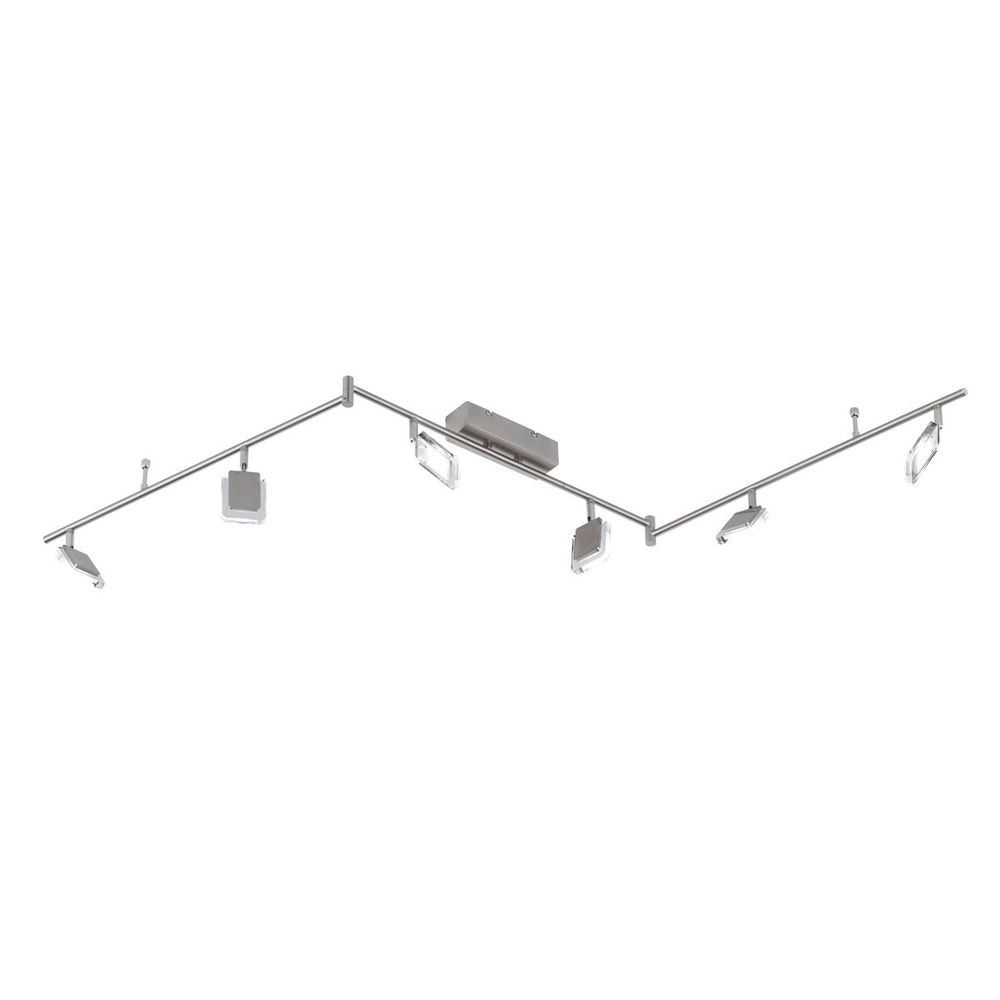 Vileta LED Deckenleuchte 6-flammig Nickel matt