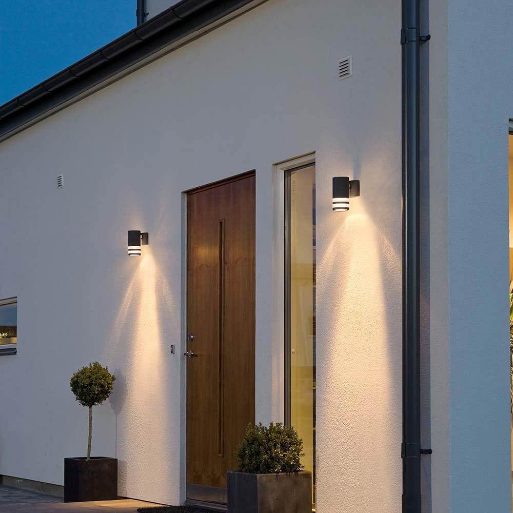 Modena Aussen-Wandleuchte Schwarz, klares Acrylglas, Reflektor 2