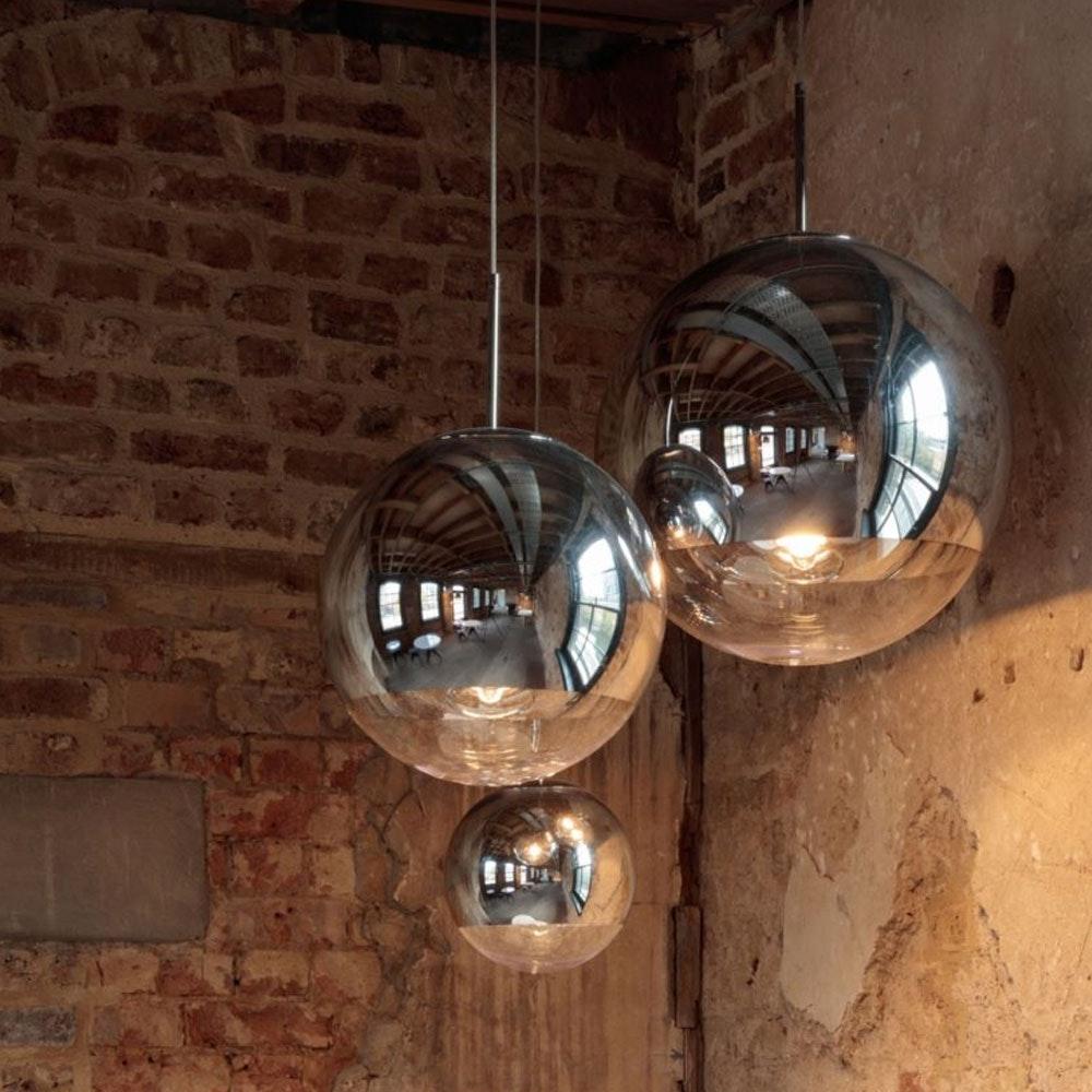 Tom Dixon Mirror Ball 3er Mobile Galerieleuchte