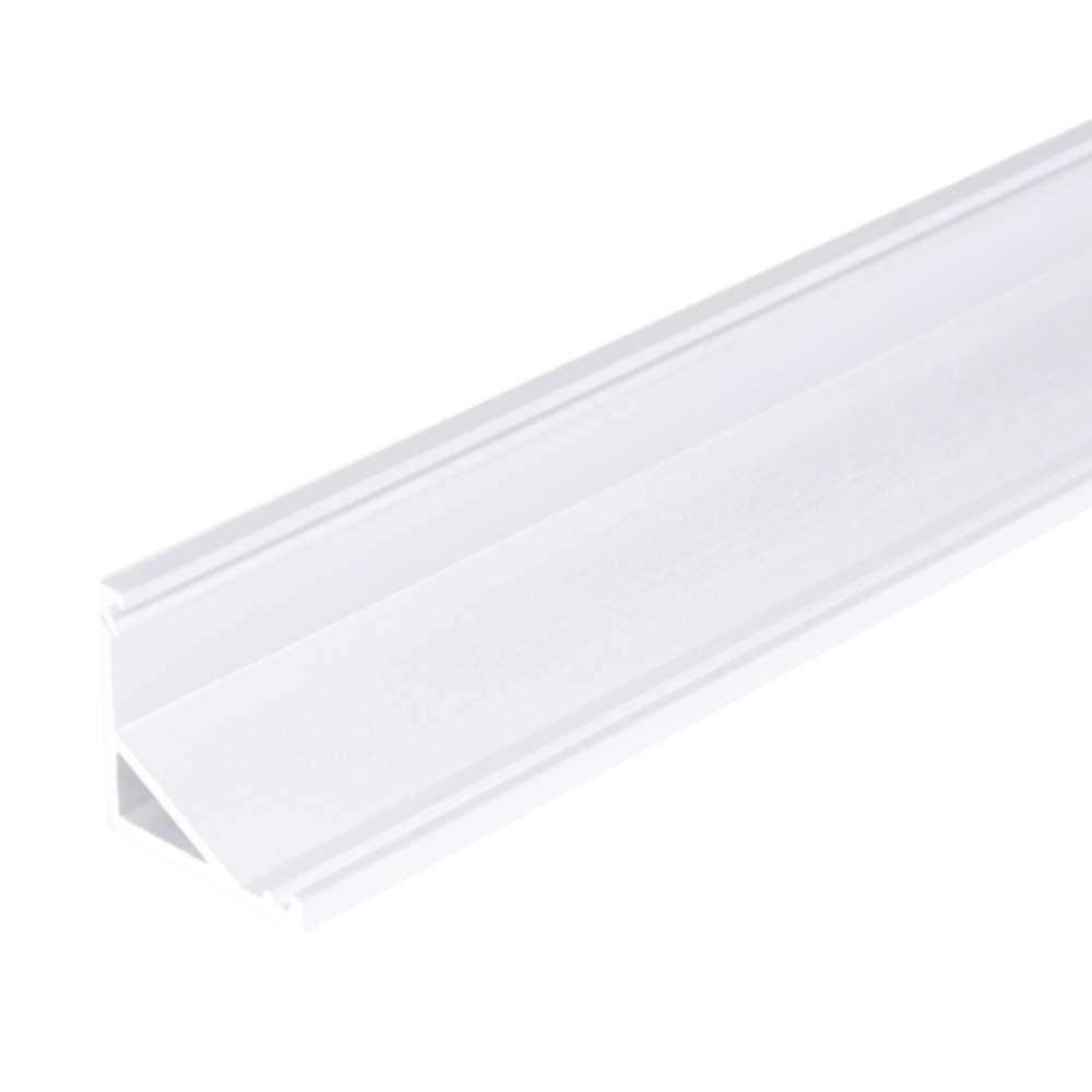 Aufbau-Eckprofil 30° & 60° 200cm Weiß ohne Abdeckung für LED-Strips 1