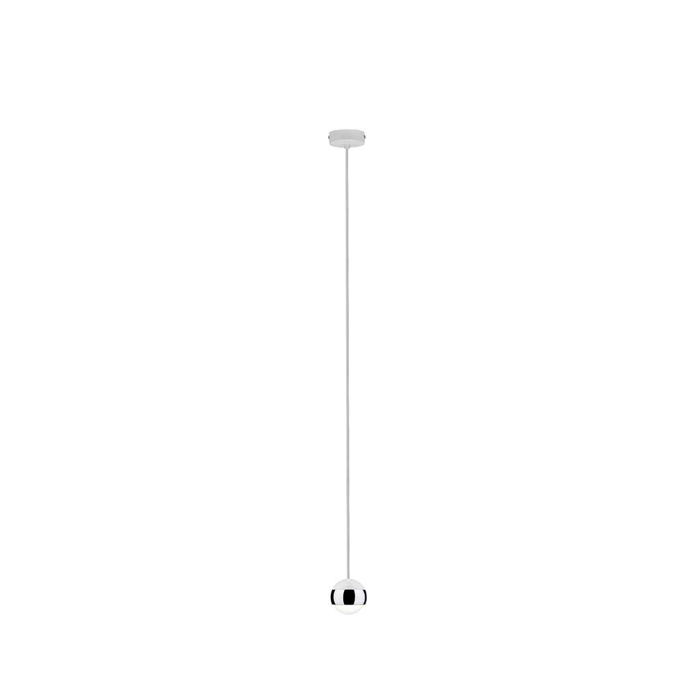 Capsule Pendellleuchte LED 1x6W Weiß Chrom