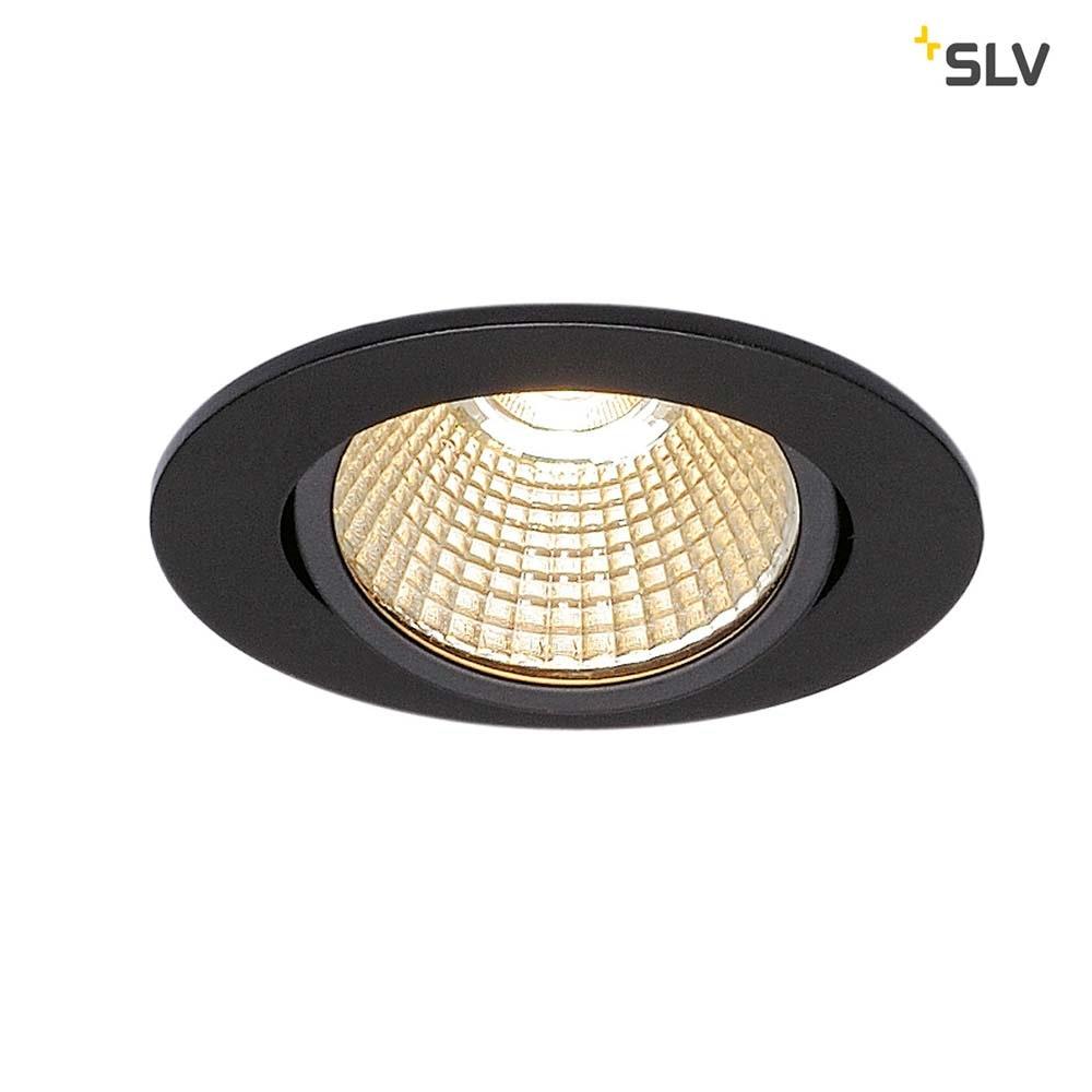 SLV New Tria Rund LED Einbauleuchte Schwarz 1800-3000K 1