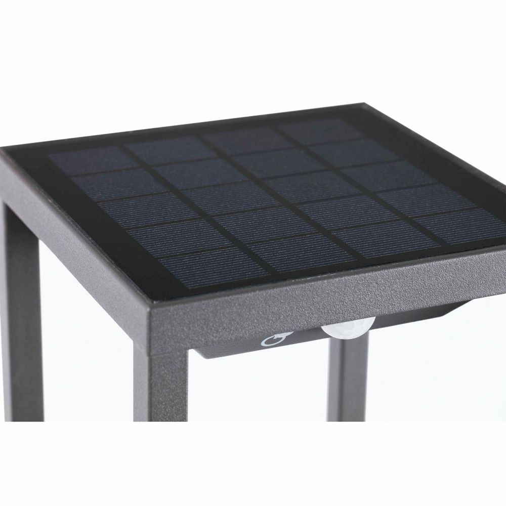 LED Solar Wegeleuchte SAURA mit Bewegungsmelder IP54 Dunkelgrau 2