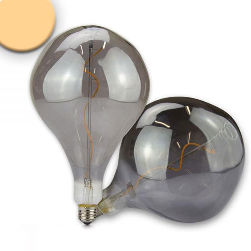 E27 LED Tropfen Smoky Ø16,5cm dimmbar 4W 2200K  1