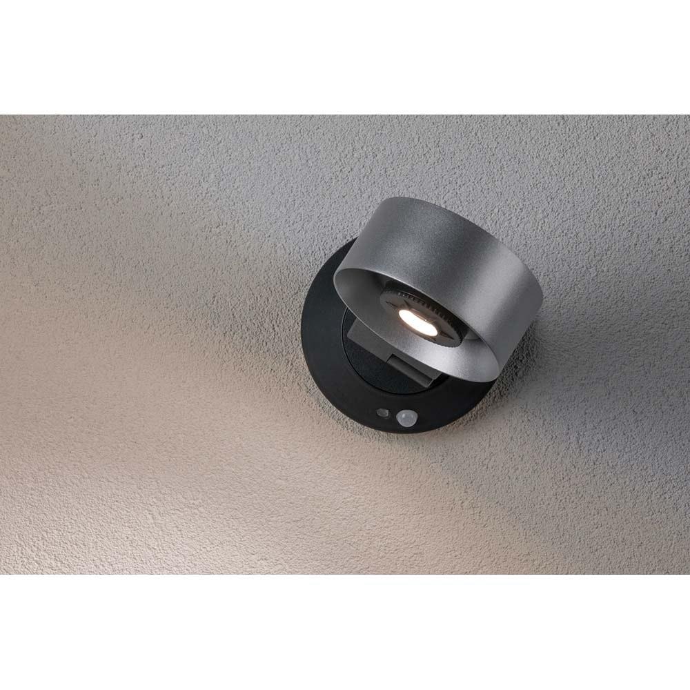 LED Aussen-Wandleuchte IP44 4000K Silber-Anthrazit 6