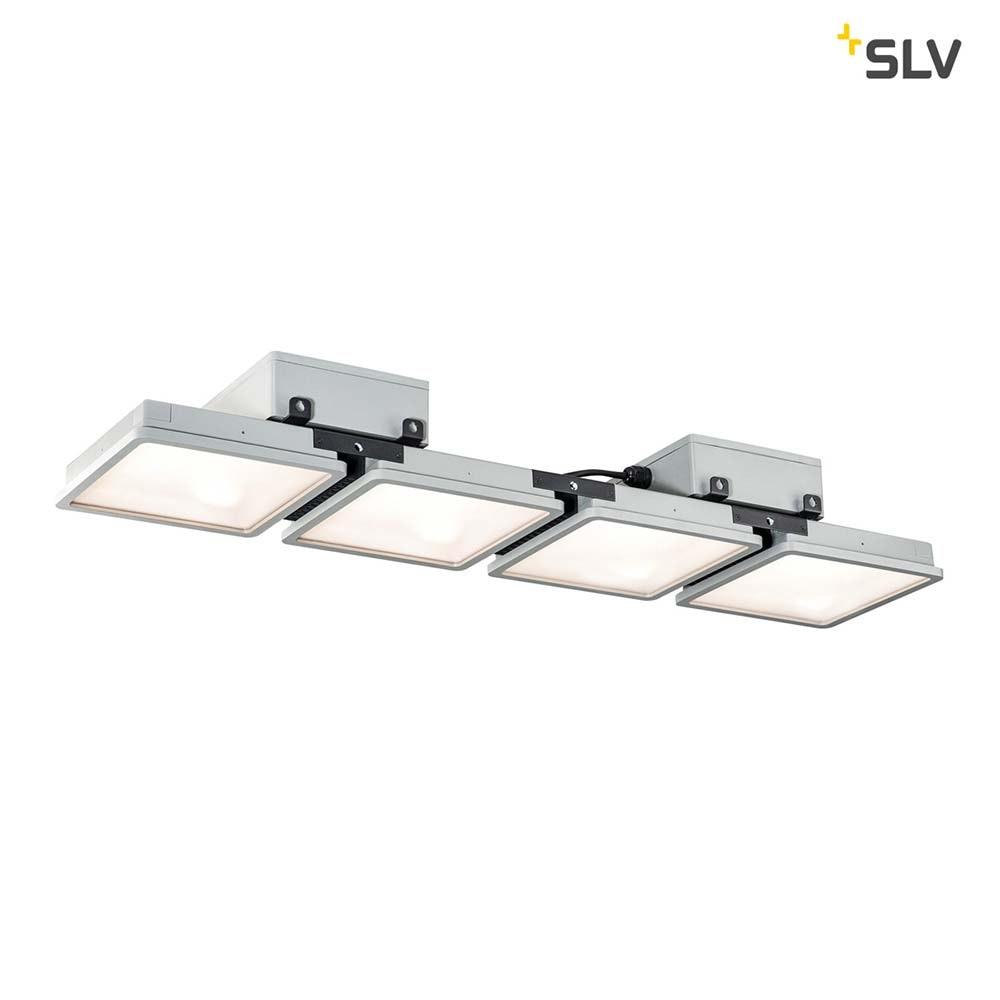 SLV Almino Quad LED Aussen-Deckenleuchte Grau IP65 1