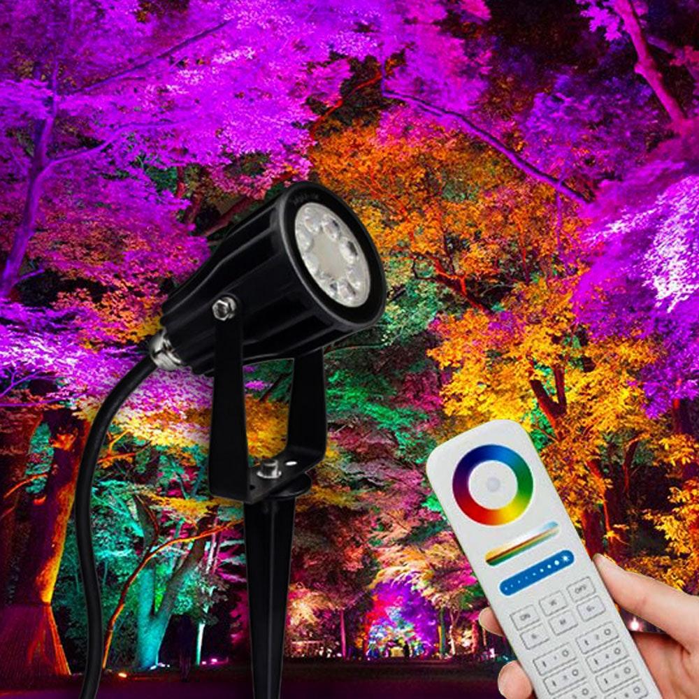 s.LUCE LED Spießstrahler iLight 6W RGB + CCT farbig & weiss 1