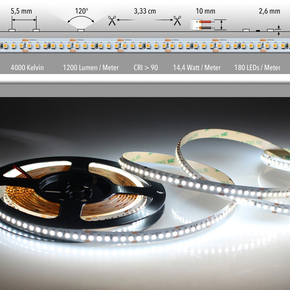 5m LED Lichtband 24V auf Wunsch  9