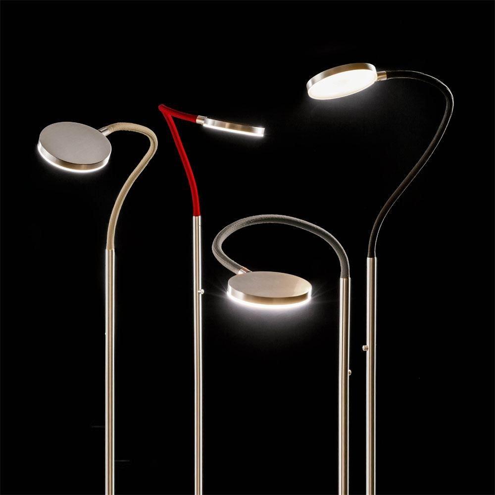 Holtkötter LED-Stehleuchte Flex S mit Tastdimmer 1