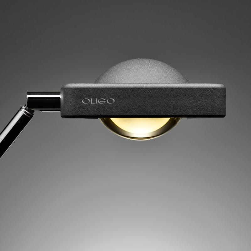 Oligo dimmbare LED Schreibtischleuchte Kelveen 90° Graphit 4