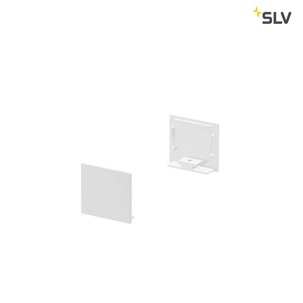SLV Grazia 20 Endkappe für Grazia Aufbauprofil Standard 2 Stk. flache Ausführung Weiß