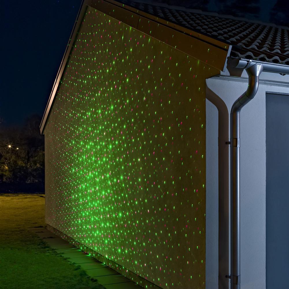 Garten Laser Aussenstrahler mit beweglichen Lichtpunkten Grün & Rot 2