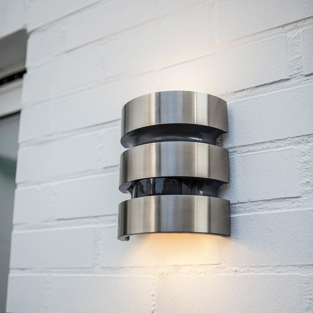 LED Außenleuchte Maya IP44 Edelstahl mit Bewegungsmelder 3