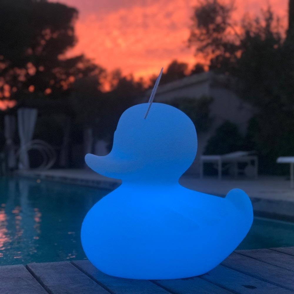 Schwimmfähige Akku-LED-Leuchte Duck-Duck S Weiß 9