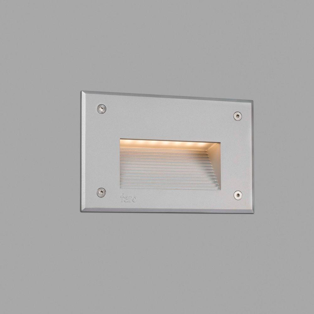 LED Außen-Wandeinbaulampe STORE IP65 Grau
