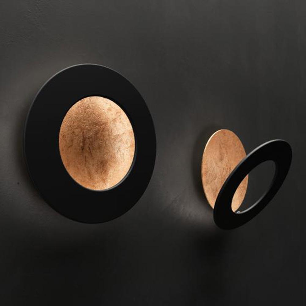 Icone LED Wandleuchte Vera Ø 31cm Kupfer, Schwarz 1