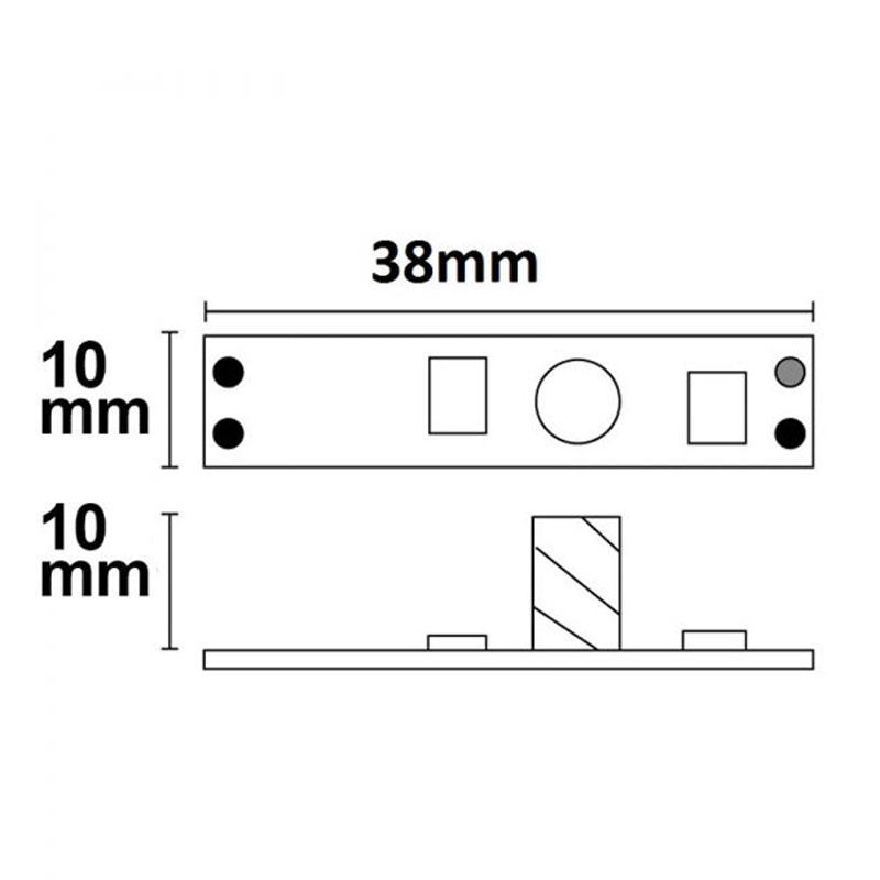 LED Touch Dimmer für Profile bis 10mm 12 - 24V 3