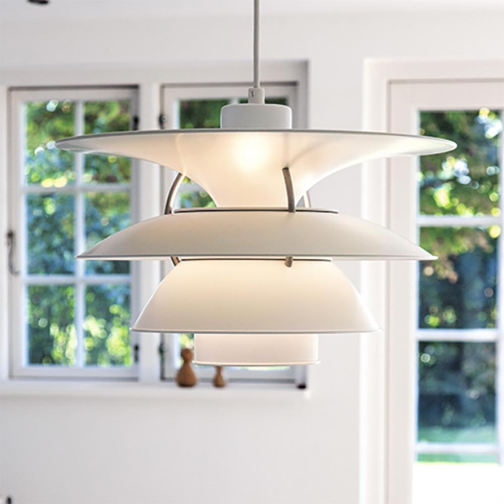 Louis Poulsen LED Hängeleuchte PH 6½-6 Weiß 2