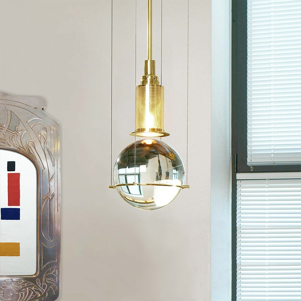 Tecnolumen LED-Hängeleuchte Le tre streghe  Muranoglas Gold 3