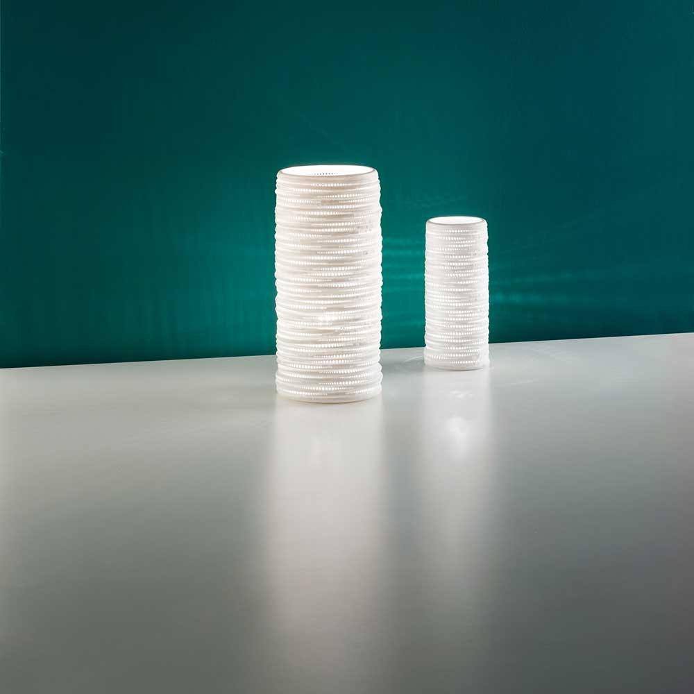 Fabas Luce Marbella Tischleuchte Weiß 4