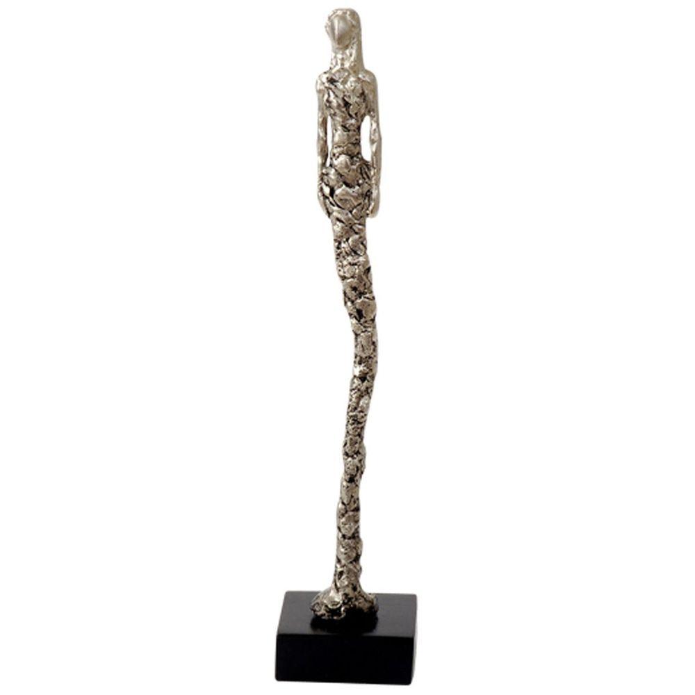 Figur Castita Klein Aluminium-Holz Silber-Schwarz 2