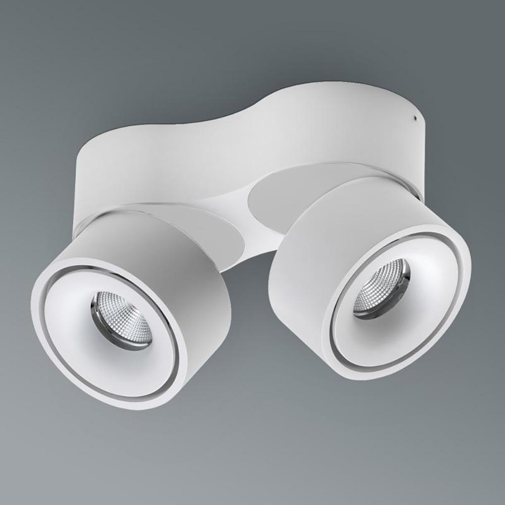 Licht-Trend LED Aufbauspot Simple Mini 2x550lm Weiß
