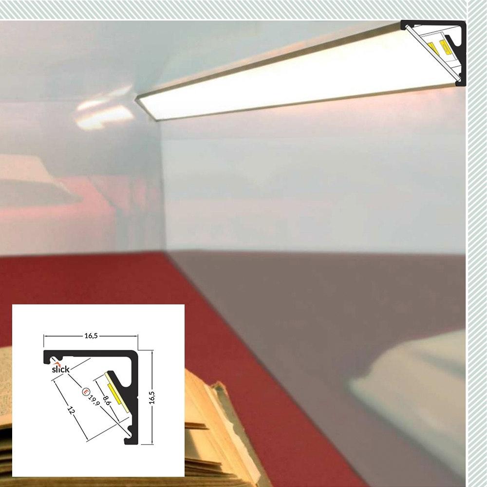 LED Aluminium Profil 2m alle Varianten  14